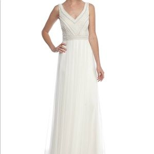 Adrianna Pappel Pearl Bodice Tulle Wedding Dress